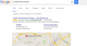 Homepage Suchmaschine GoogleAdWords