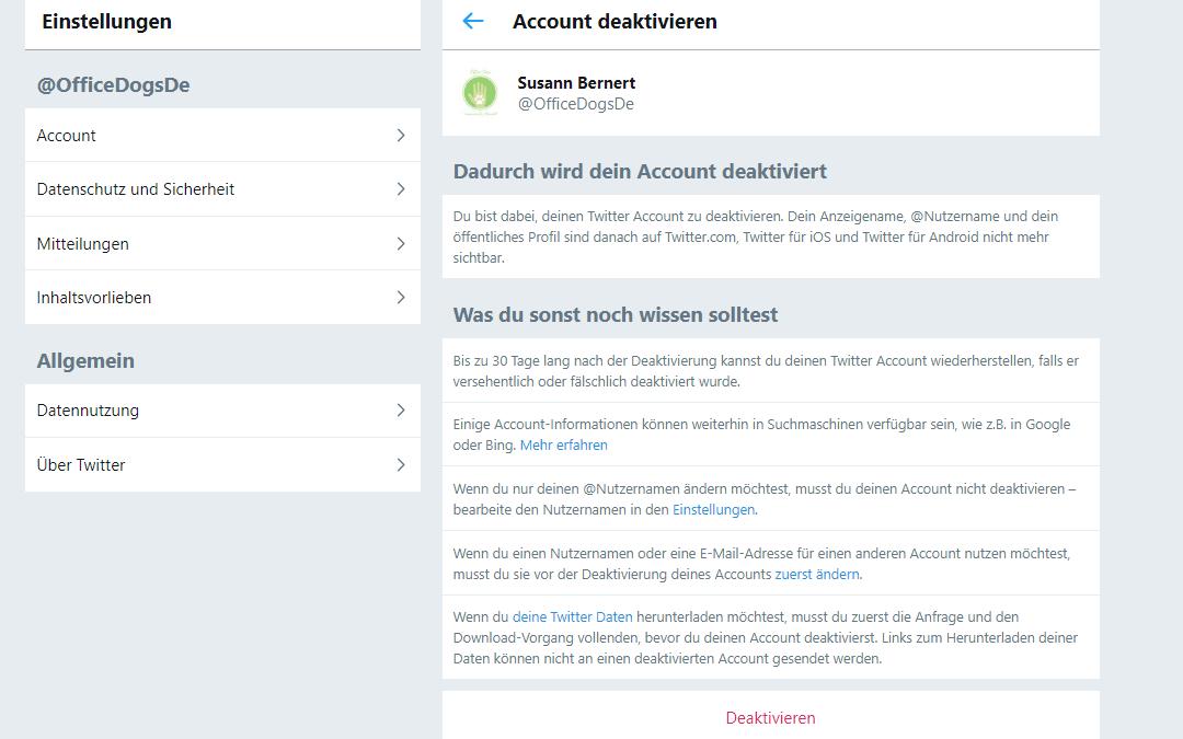 Wie du deinen Twitter-Account löschen kannst