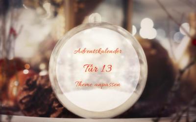 Türchen 13: Theme anpassen