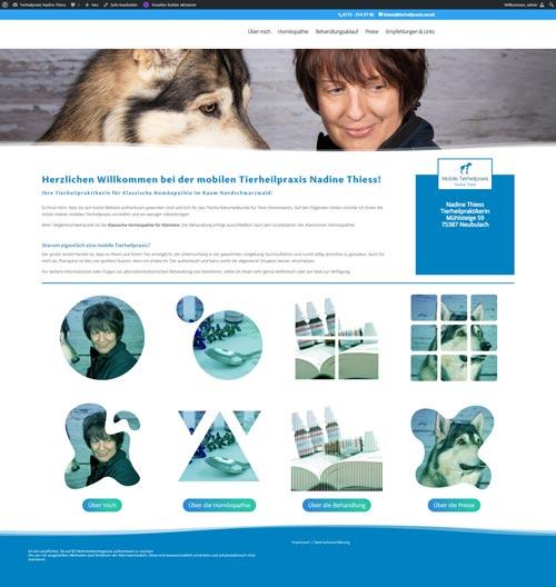 Homepage-Redesign für Tierheilpraxis Nadine Thiess